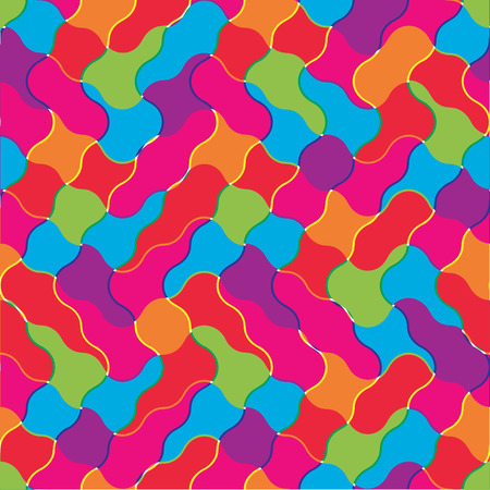Seamless vector texture with colorfull tiles Vector