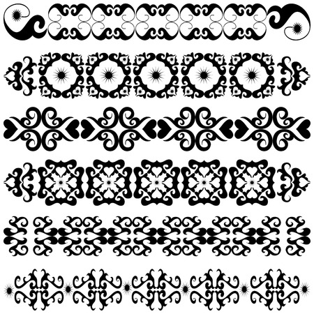 Collection of ornament decorative elements Vector