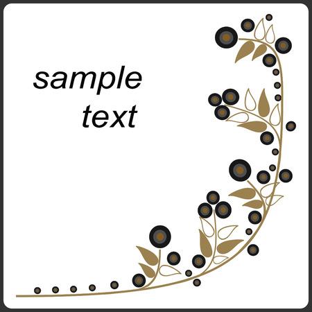 Original floral card Vector
