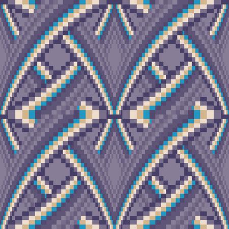 Vector Seamless Violet Tiles Background Vector