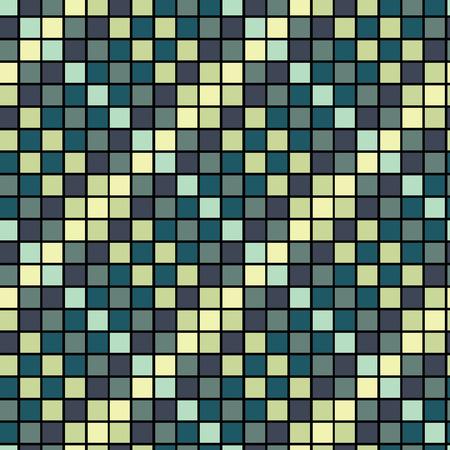 Vector Seamless Blue Tiles Background Vector