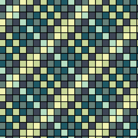 Vector Seamless Blue Tiles Background Vector Illustration