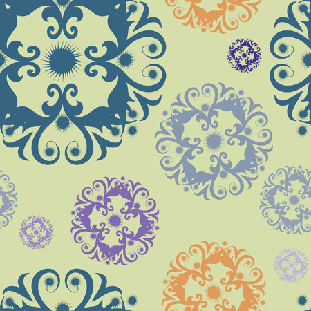 Colorful, repeating floral background Vector
