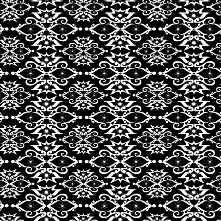 Seamless black and white ornament pattern Stock Vector - 5407321