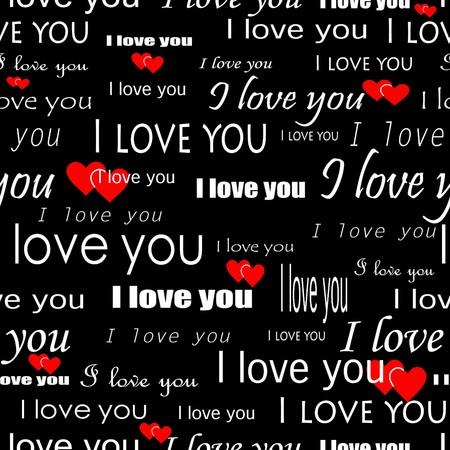 seamlessly: Senza soluzione di continuit� wallpaper valentine con il cuore e la soprascritta