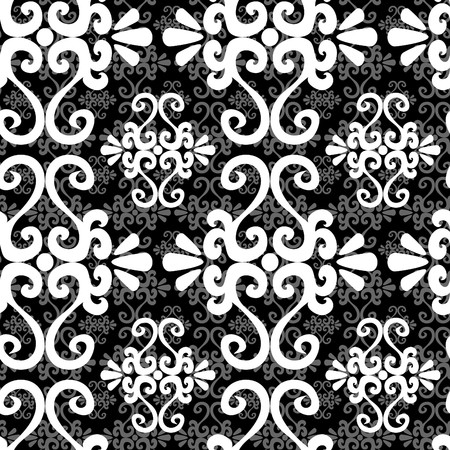 Seamless black and white ornament pattern Stock Vector - 5407328