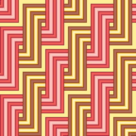 Seamless yellow red tile pattern Stock Vector - 5407318
