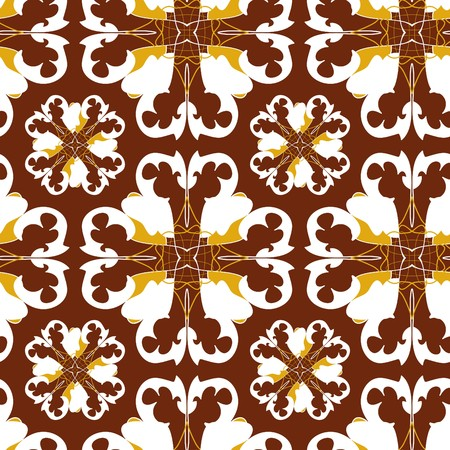 Seamless gold ornament pattern Vector