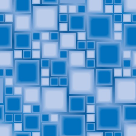 Seamless blue tile pattern Vector