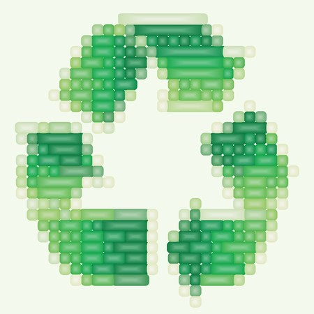 ozone friendly: Art 3d recycle sign on white