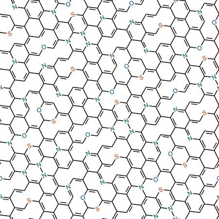seamlessly: Formule di chimica Senza soluzione di continuit� su sfondo bianco