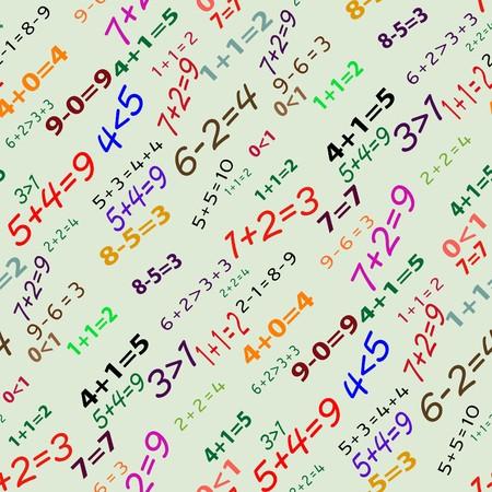 Seamlessly vector wallpaper funny mathematics Stock Vector - 5603393