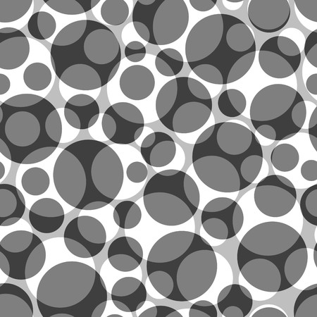Seamless grey pattern with circles Vector