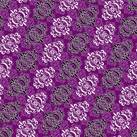 Seamless violet ornament pattern Vector
