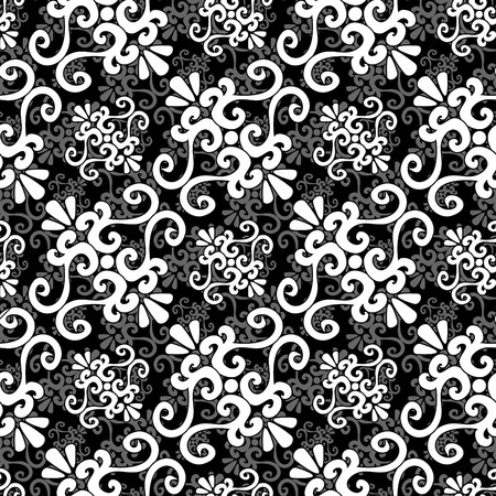 Seamless black and white ornament pattern Stock Vector - 5630038