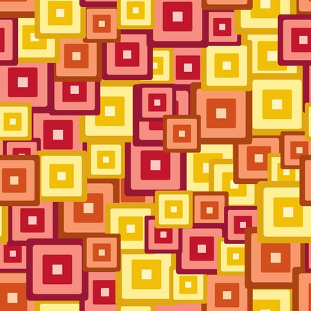 Seamless yellow red tile pattern Vector
