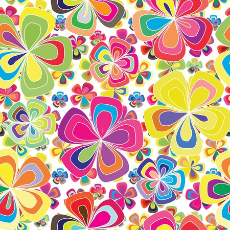 Vivid colorful repeating flower background Stock Vector - 5719443