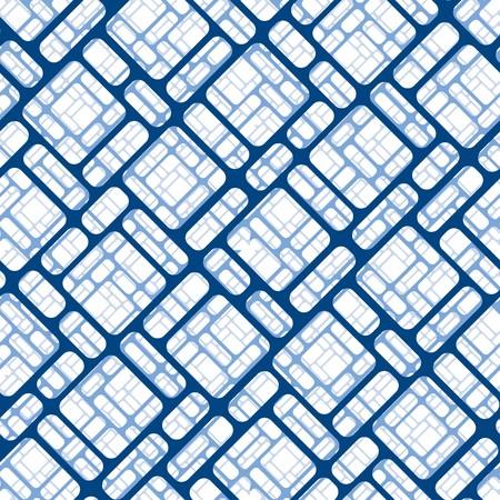 nebulosity: Seamless blue tile pattern Illustration
