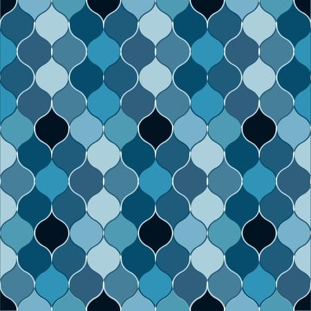 Seamless dark blue bulb pattern Vector