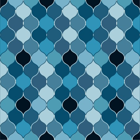 madras: Seamless dark blue bulb pattern Illustration