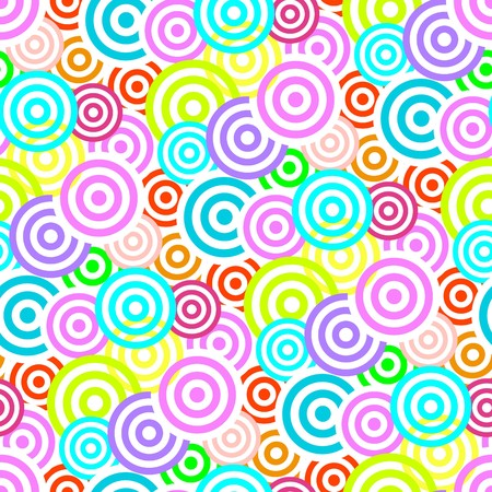 Retro vivid seamless circle background Vector