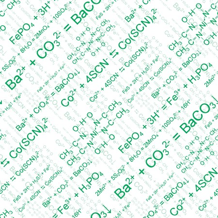 green chemistry: Green chemistry. Seamlessly wallpaper on white