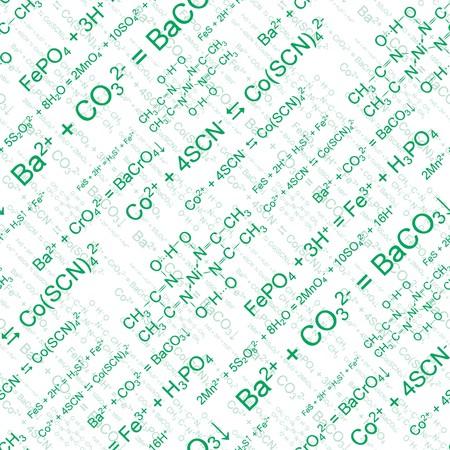 Groene chemie. Naadloos Wall paper op wit Vector Illustratie