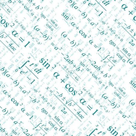 Nahtlos vektor Wallpaper Mathematik auf weiß  Vektorgrafik