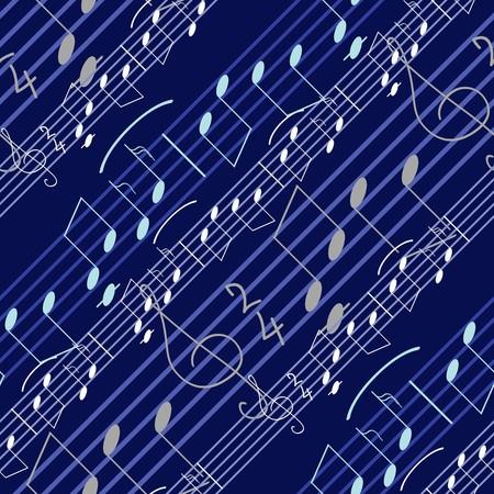 Seamless wallpaper with music notes Иллюстрация