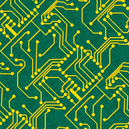 electronic board: Electronic board. Seamless vector wallpaper Illustration