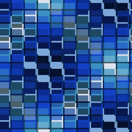 Seamless pattern de tuiles bleues Vecteurs