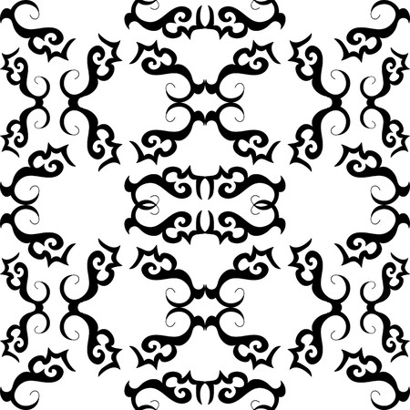 Seamless black and white ornament pattern Vector