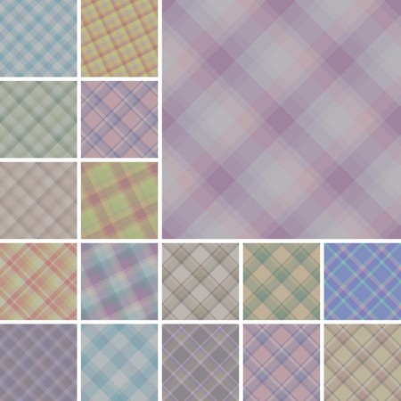 scot: Big collection of seamless plaid vector patterns