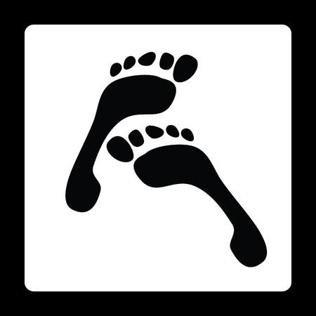 footprint banner Vector