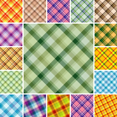 Big collection of seamless plaid vector patterns Stock Vector - 5993562