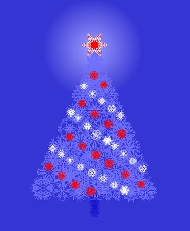 Christmas tree with snowflakes Stock Vector - 6018748