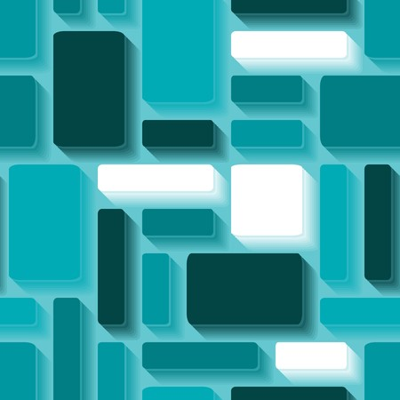 Seamless brown 3d tile pattern Vector