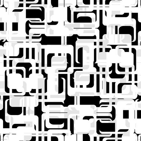 Retro black and white seamless rectangles background Vector