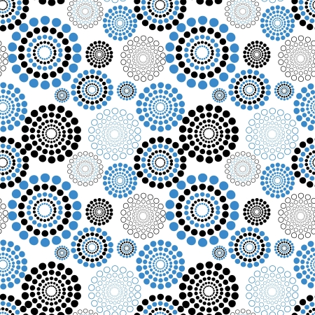 Seamless vector texture with circles