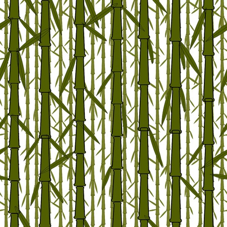 Vector seamless wallpaper with chinese bamboo trees Vector