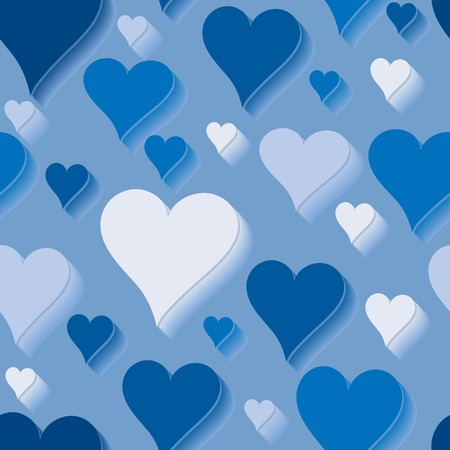 endearment: Blue love. Seamlessly wallpaper valentine with hearts