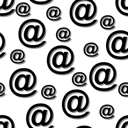 Vector seamless at email sign background pattern Vector