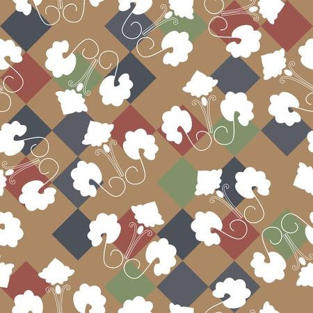 Seamless vivid textile pattern Stock Vector - 6344273