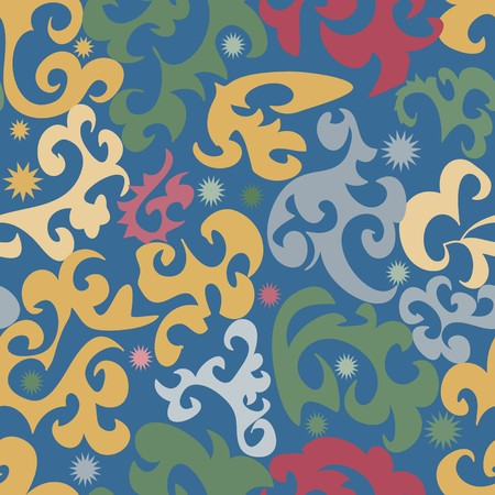Seamless vivid textile pattern Vector
