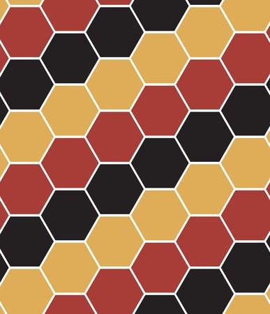 Hexagon tiles. Seamless vector pattern Vector