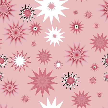 Seamless vector texture with abstract stars Vector