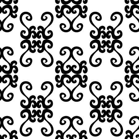 uncolored: Patr�n de ornamento blanco y negro transparente  Vectores