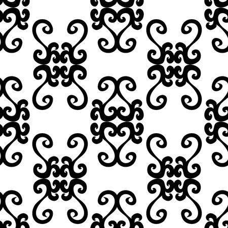 uncolored: Seamless black and white ornament pattern