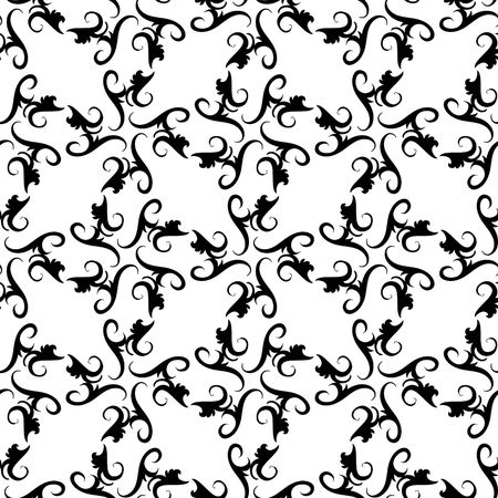 repeated: Seamless black and white ornament pattern