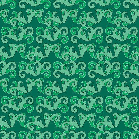 Seamless green swirl ornament pattern Stock Vector - 6621644